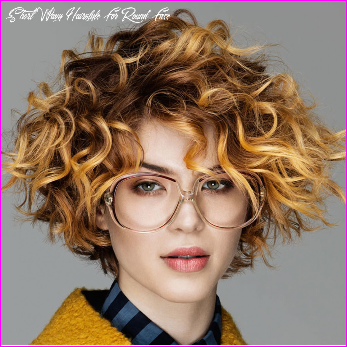 Best short haircuts for curly hair & round face 10 best short