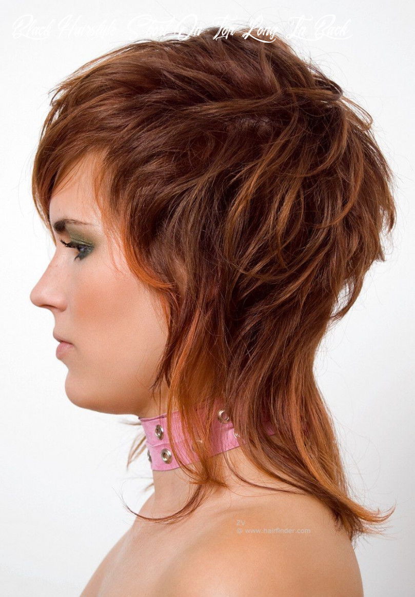 Black hairstyles short on top long in back middle short hair on