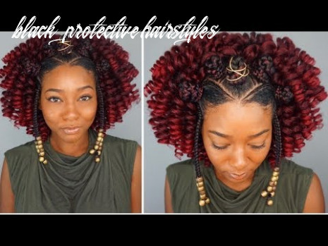 Black protective hairstyles | braided bantu knot curly crochet for natural & relaxed hair black protective hairstyles