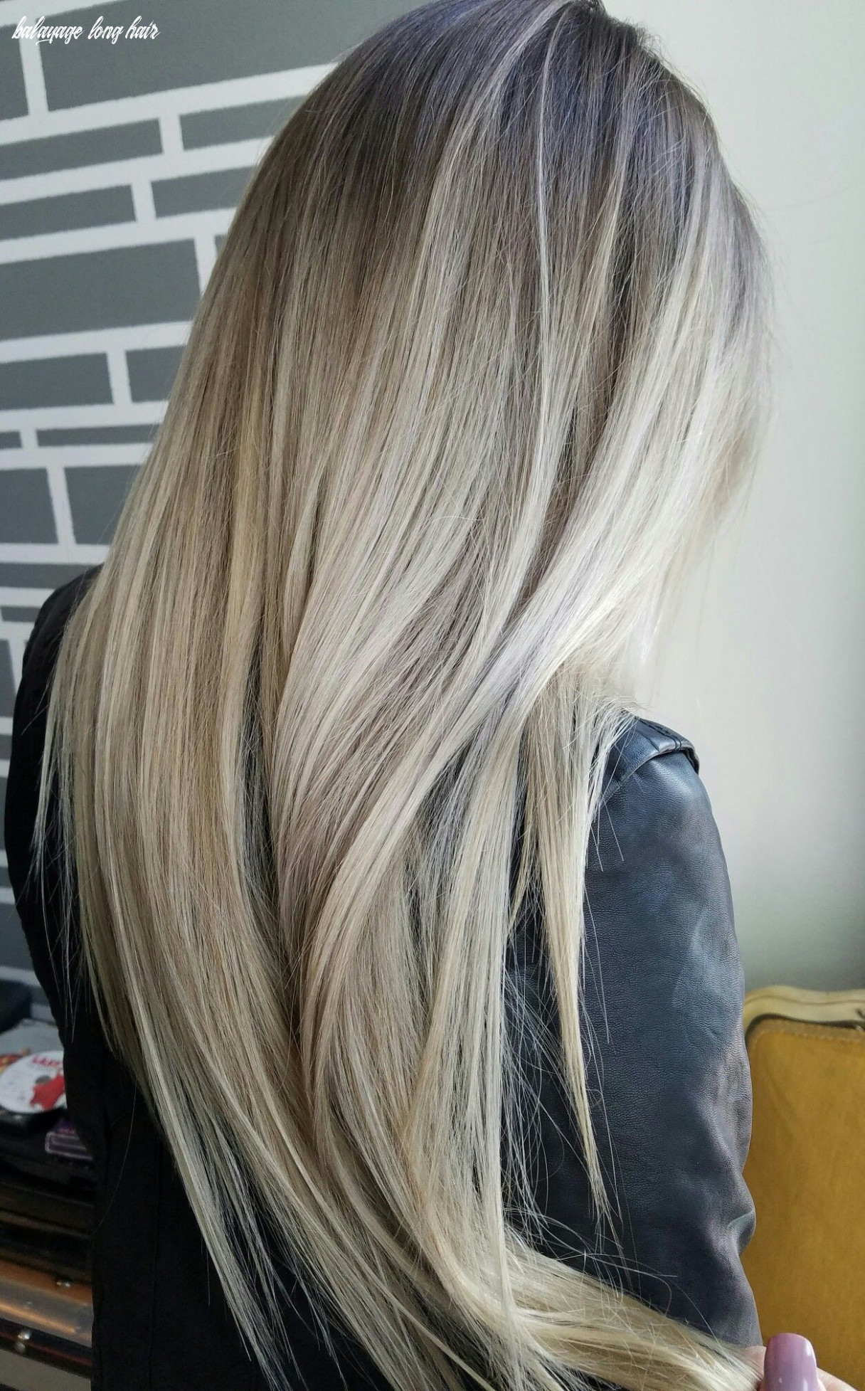 Blonde balayage long | balayage ombre using her natural dark