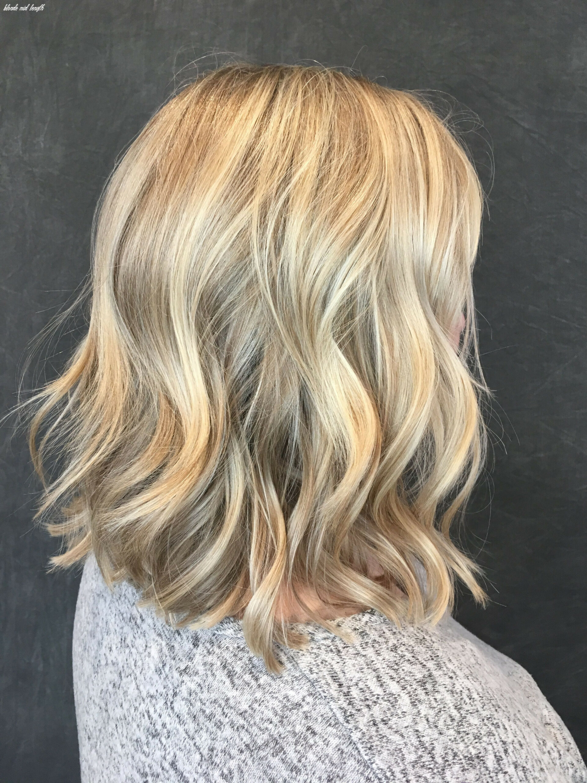 Blonde mid length #blondehair #livedinhair #shoulderlength | hair
