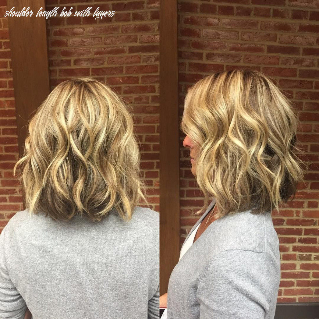 Blonde wavy long bob with short layers #layeredhair (with images