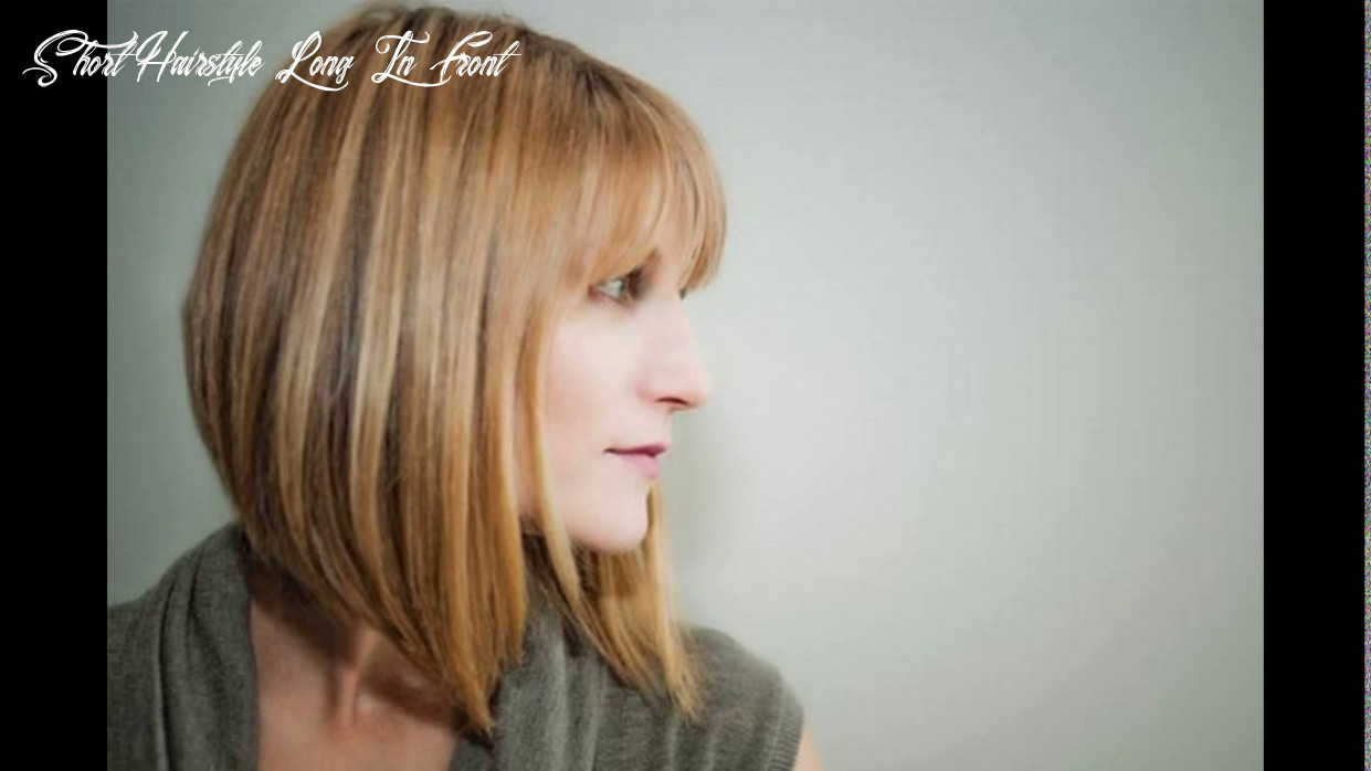 Bob haircuts long in front short in back - YouTube