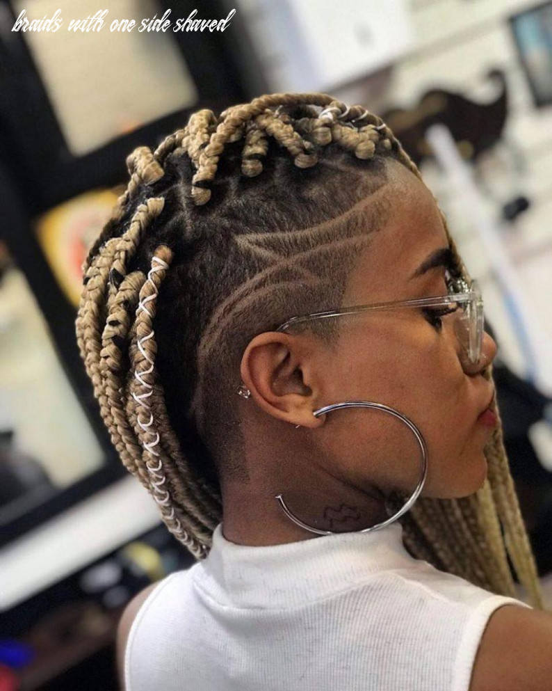 Box braids with shaved sides: 12 stylish ways to rock the look braids with one side shaved