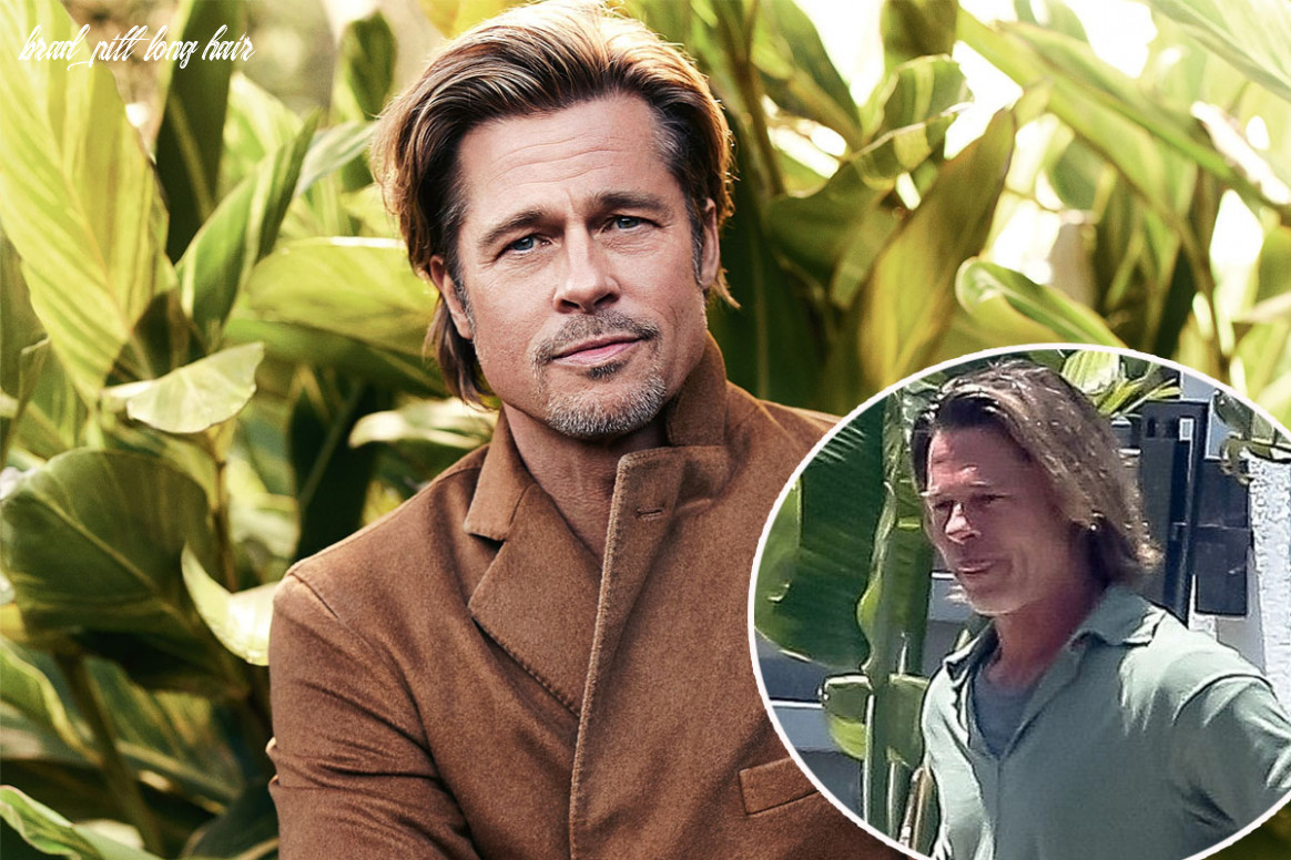 Brad pitt reveals long hair and dark roots after months without a