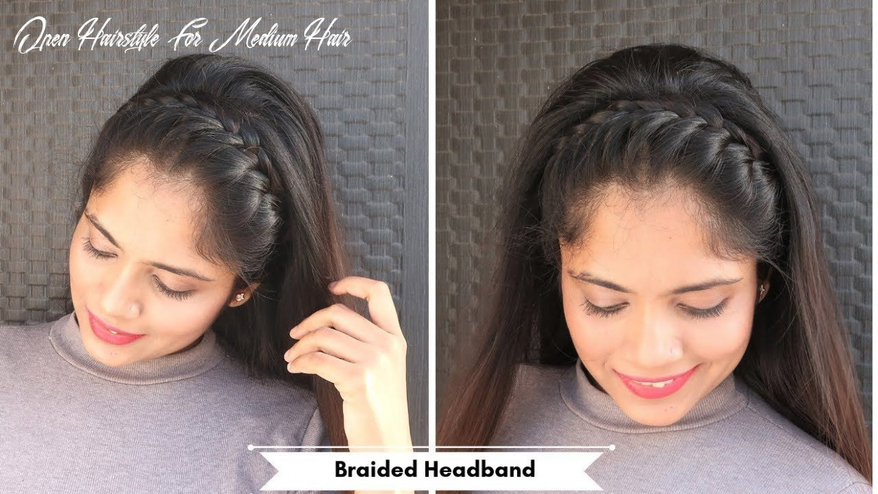 Braided full headband hairstyle /open hair hairstyle for party