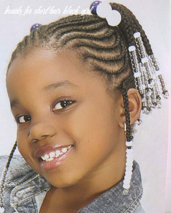 Braided hairstyles for little black girls with short hair | black