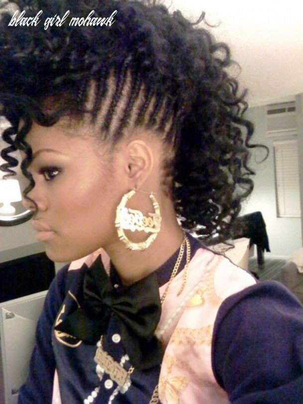 Braided mohawk hairstyles for black girls | braided mohawk