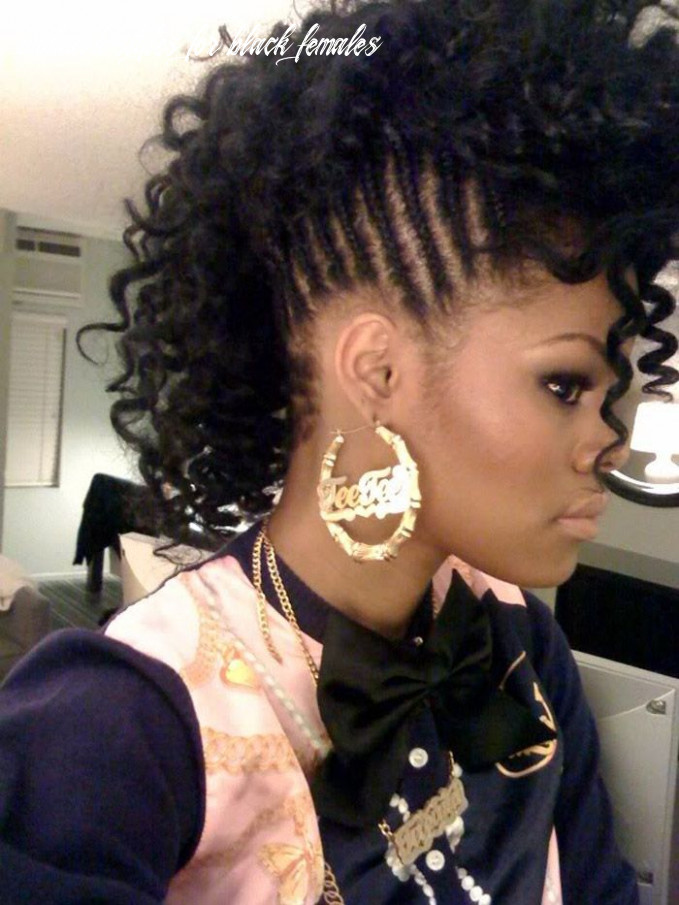 Braided mohawk hairstyles for black girls | natural hair styles