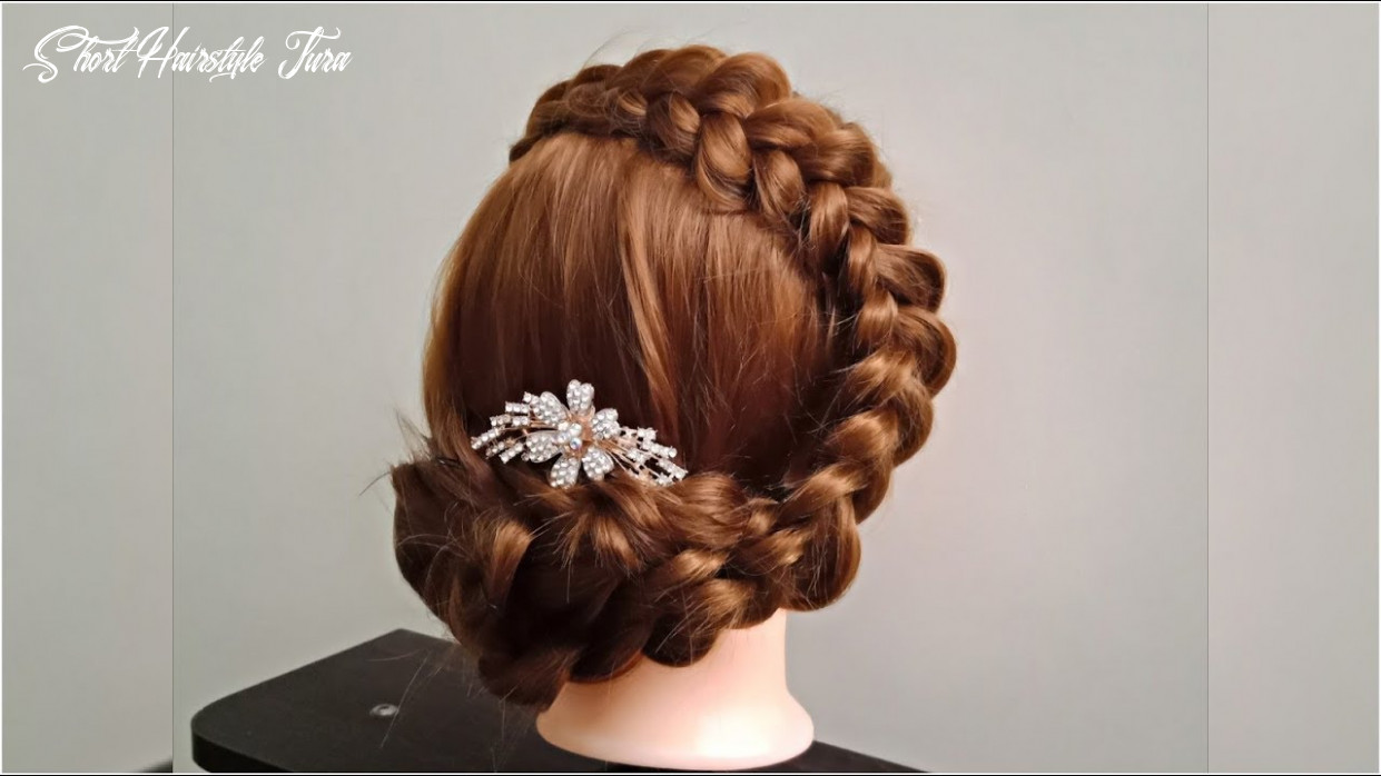 Braided updo Tutorial 💕 step by step easy hairstyle for girls