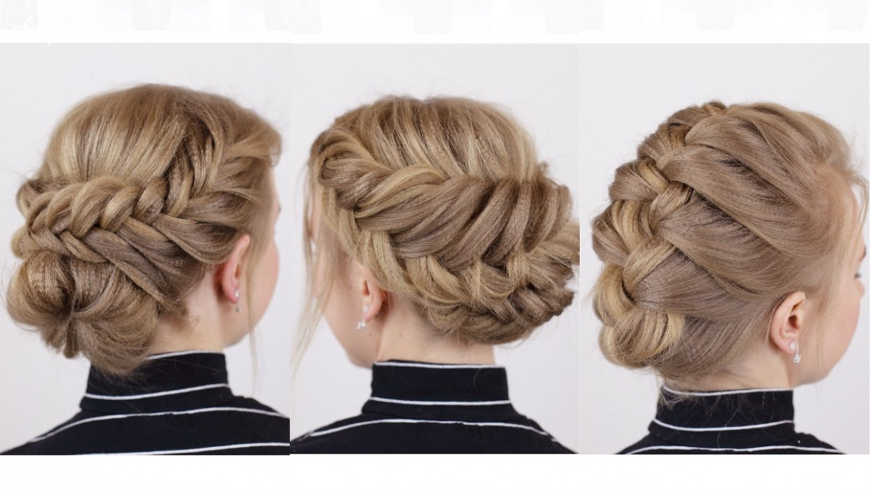 Braided updos for short hair short updos