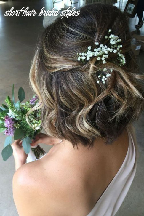 Bridal hairstyle inspiration for short hair bride love the