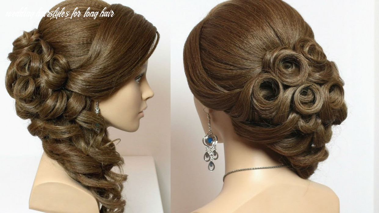 Bridal hairstyle with curls for long hair tutorial wedding hairstyles for long hair