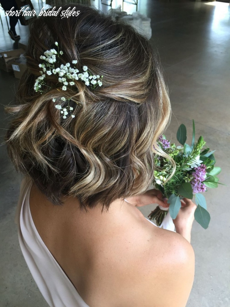 Bridal hairstyles for short hair: the trendiest hairstyle for the