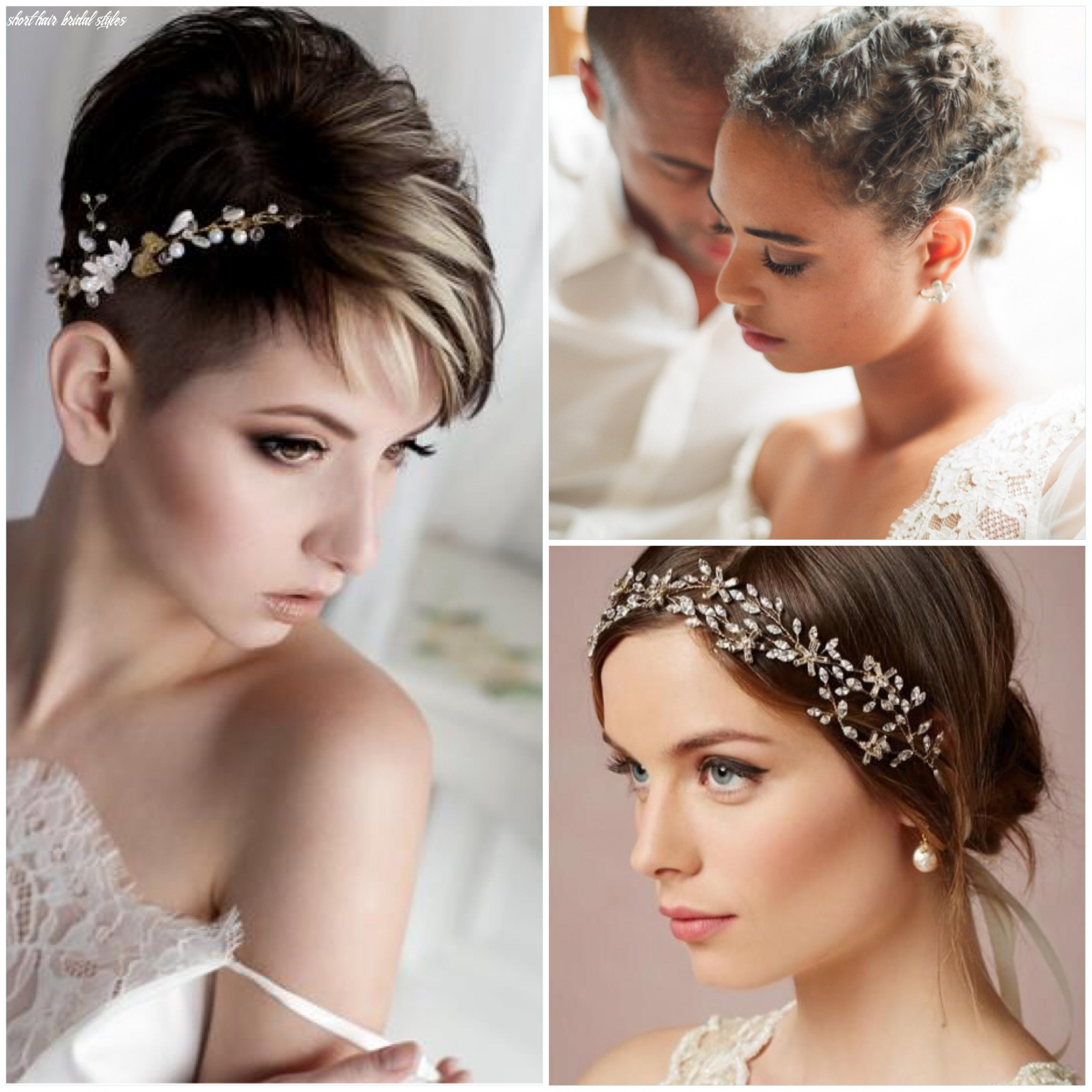 Bridal styles for shorter hair | shorter bridal hairstyles | lace