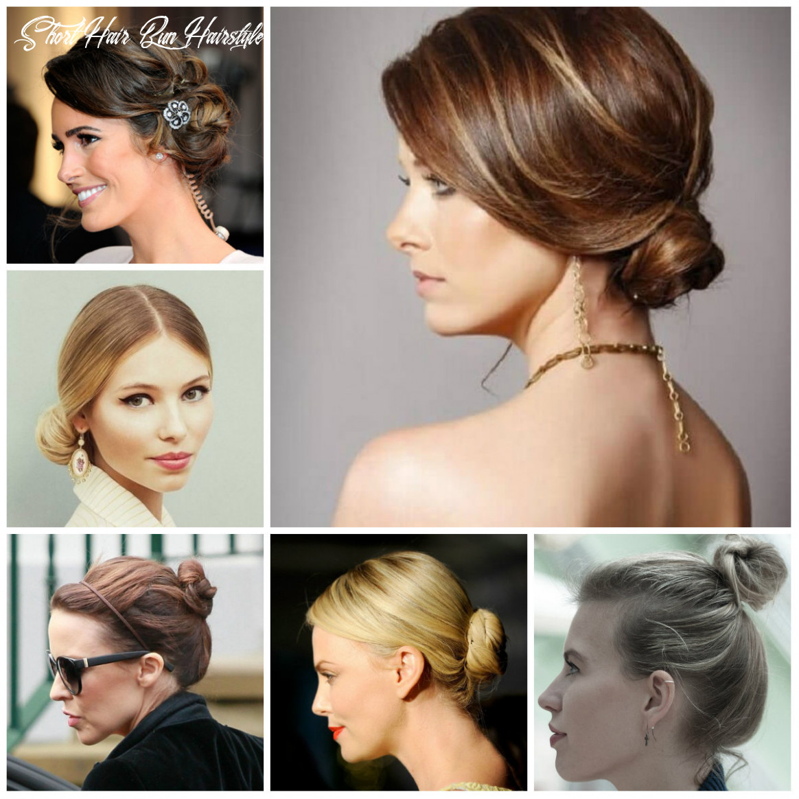 Bun hairstyles for short hair 9 | 9 haircuts, hairstyles and
