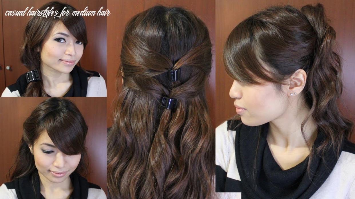 Casual friday easy hairstyles for medium long hair tutorial casual hairstyles for medium hair