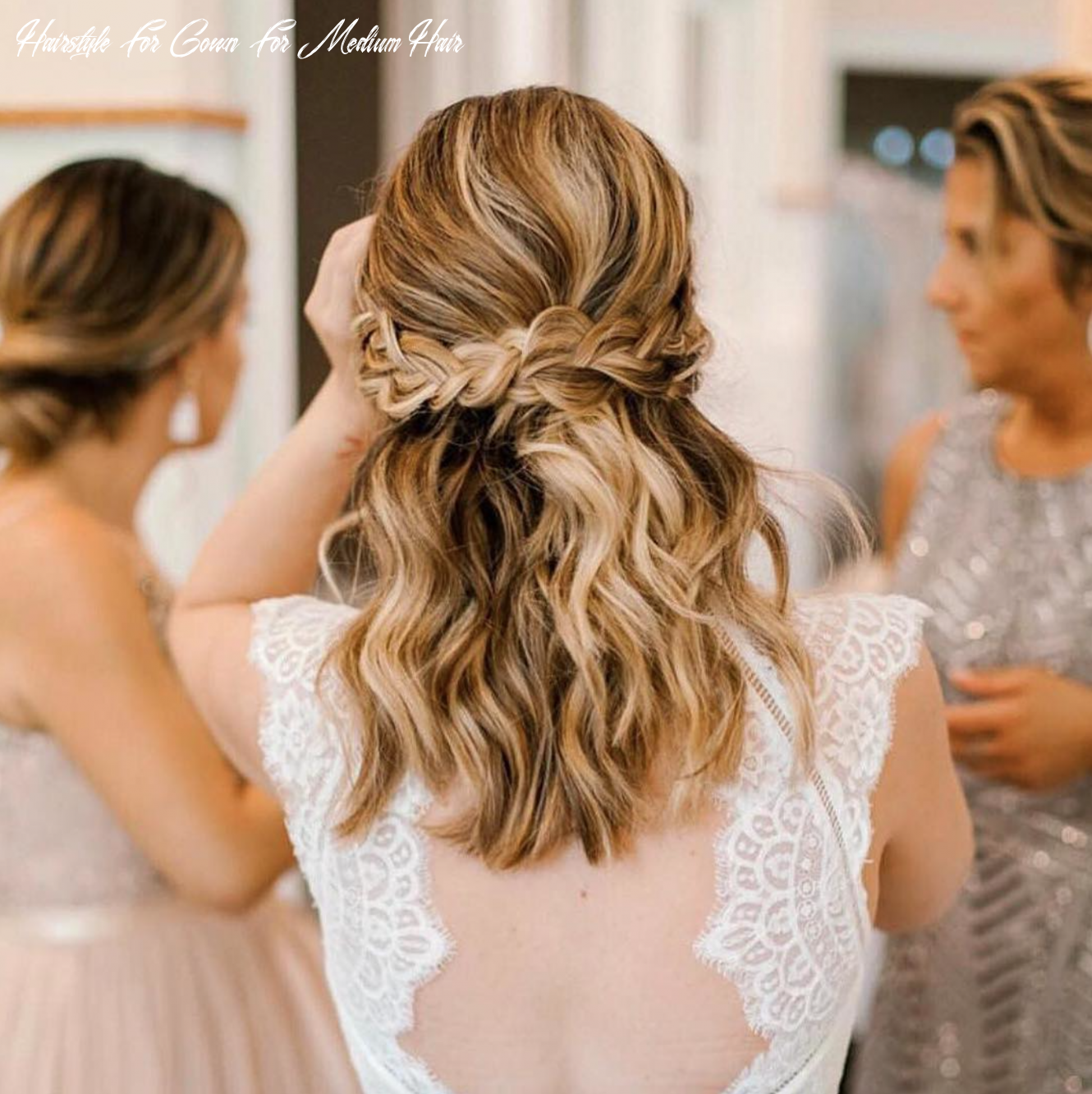 Catherine deane suri gown | wedding hairstyles for long hair