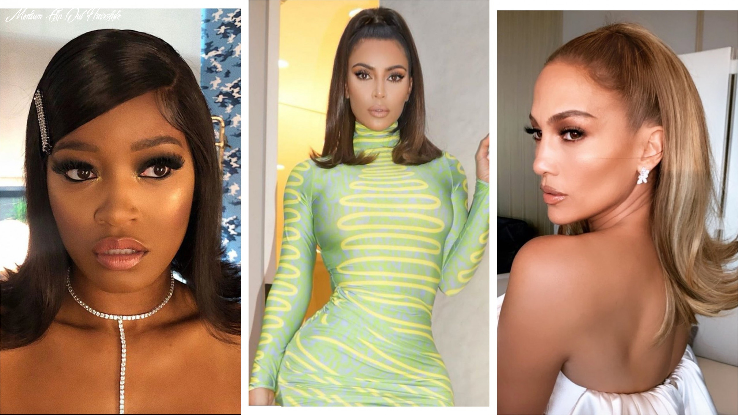 Celebrity flip hairstyles are trending for 10   glamour medium flip out hairstyle