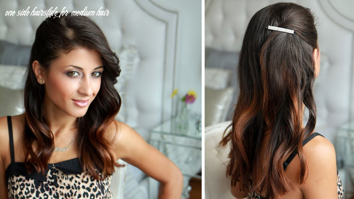 Celebrity side pinned hairstyle one side hairstyle for medium hair