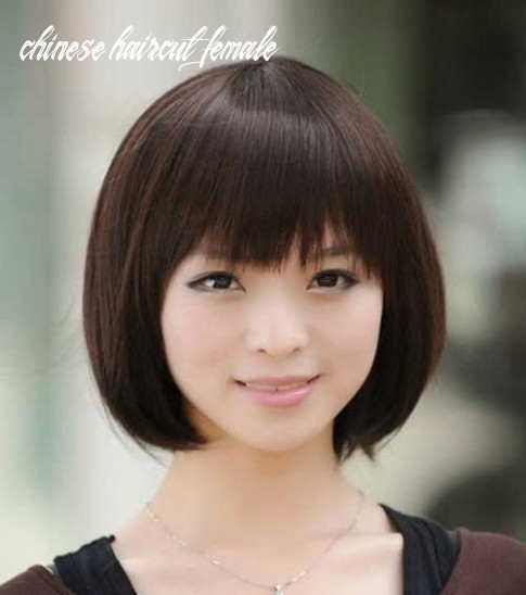 Chinese casual straight bob haircut chinese haircut female