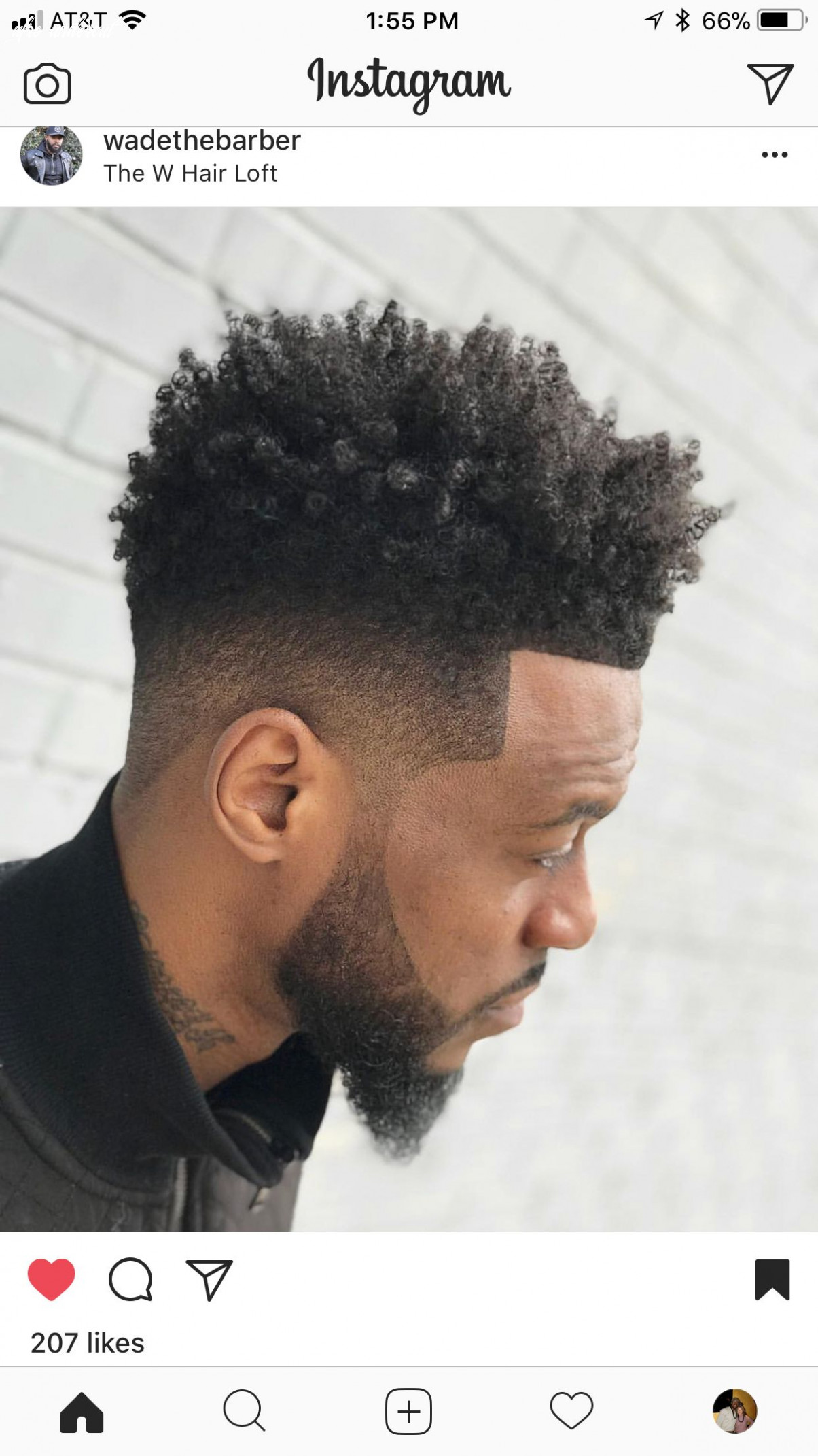 Clean props to wadethebarber!   curly hair fade, curly hair men