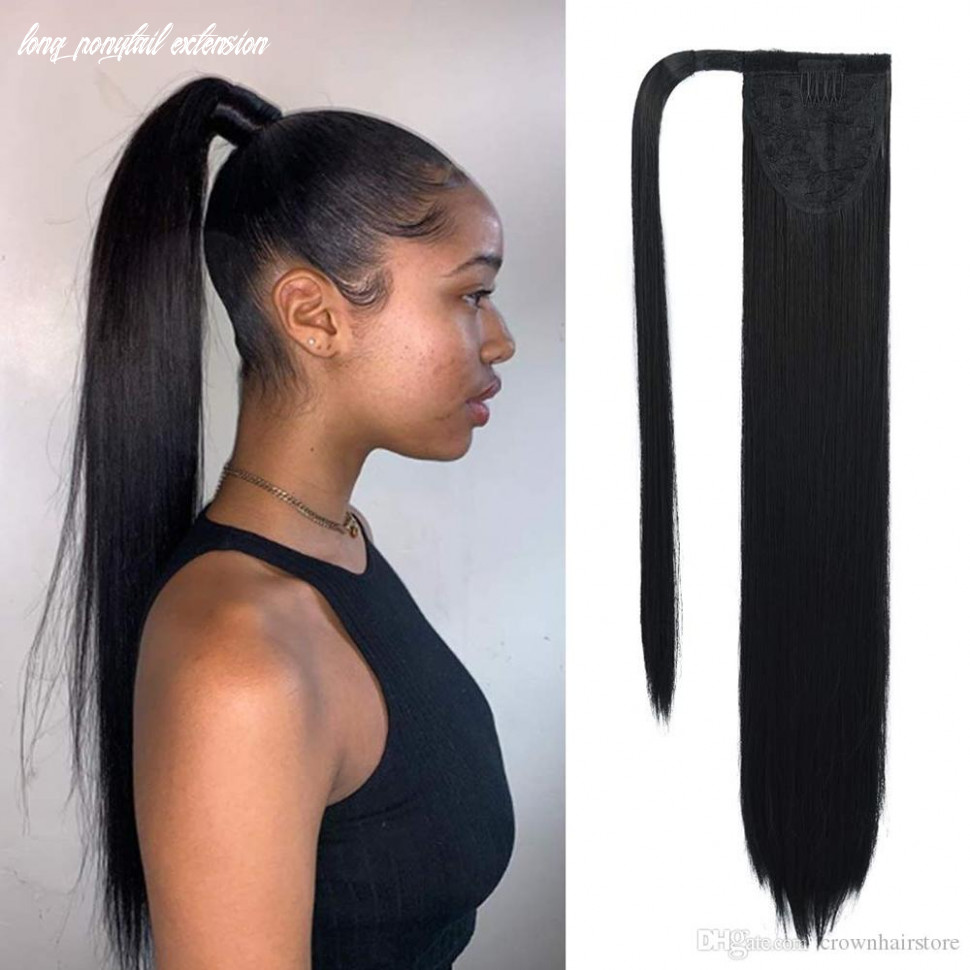 Clip in ponytail extension wrap around long straight pony tail hair 11 inch synthetic hairpiece ponytail hair wrap wrap around human hair ponytail