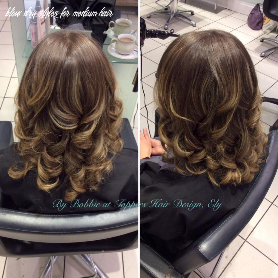 Colour and blow dry styles | toppers hair news blow dry styles for medium hair