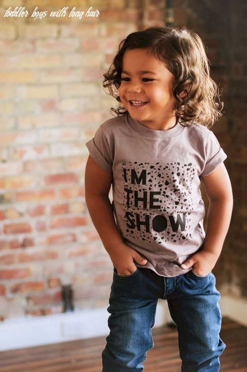 Cool 10 charming baby boys hairstyle with long hair http