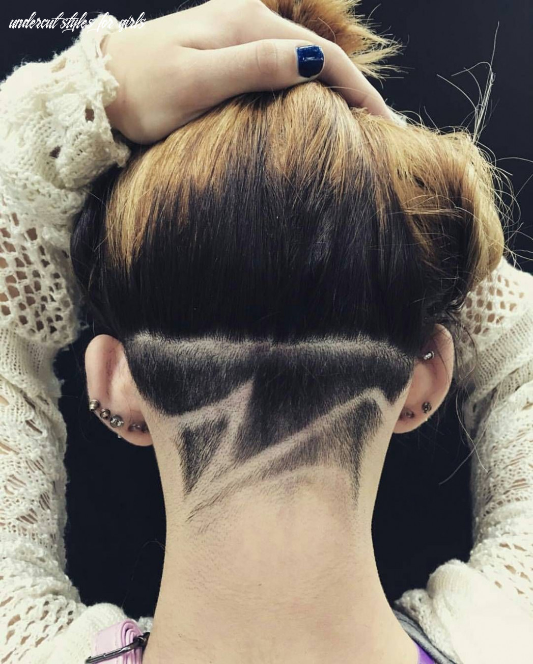 Cool undercut wave pattern for women | undercut hairstyles, shaved