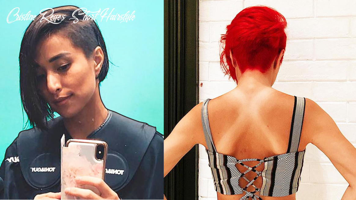 Cristine reyes got a shaved haircut and dyed it red cristine reyes short hairstyle