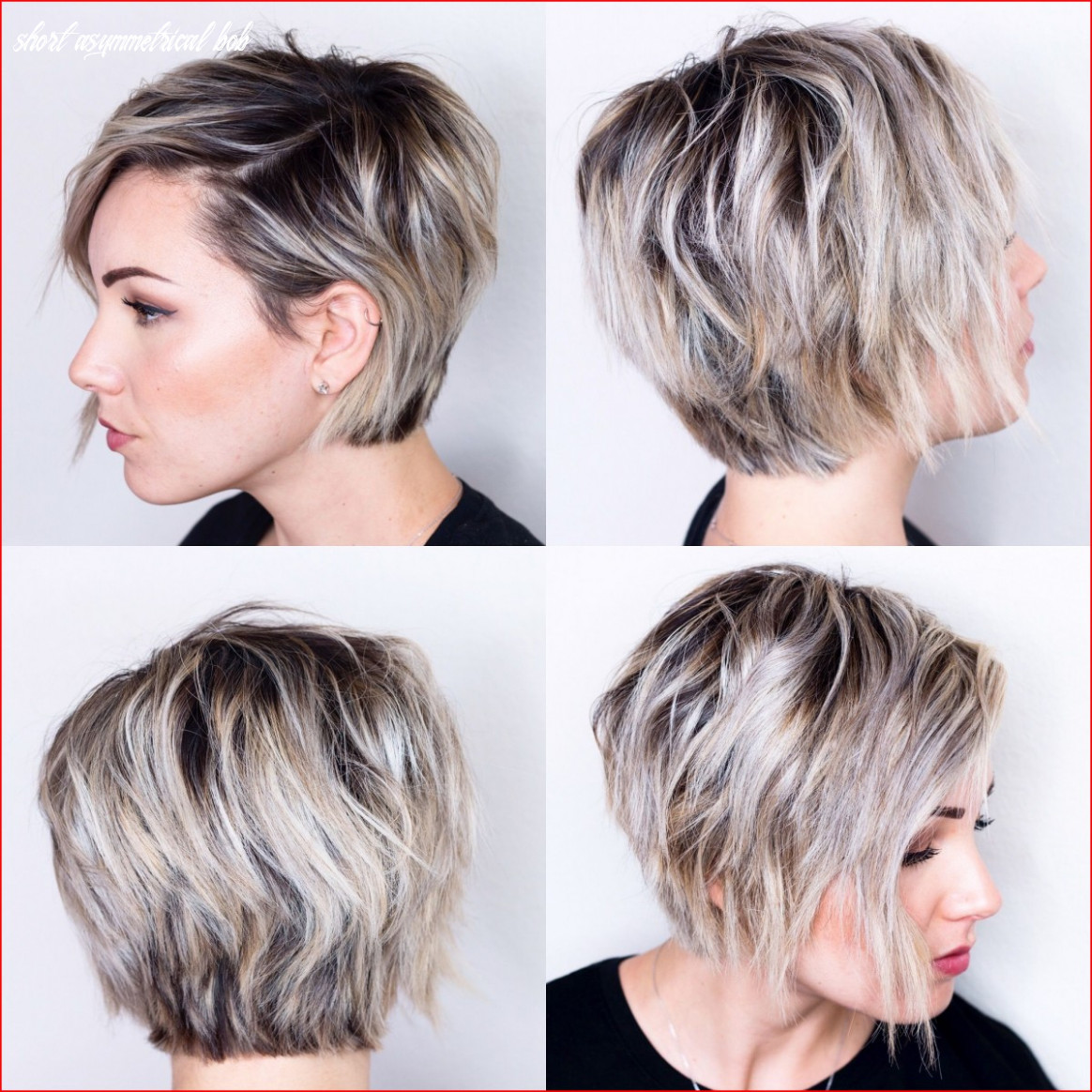 Cropped short asymmetrical bob hairstyle » best easy hairstyles short asymmetrical bob