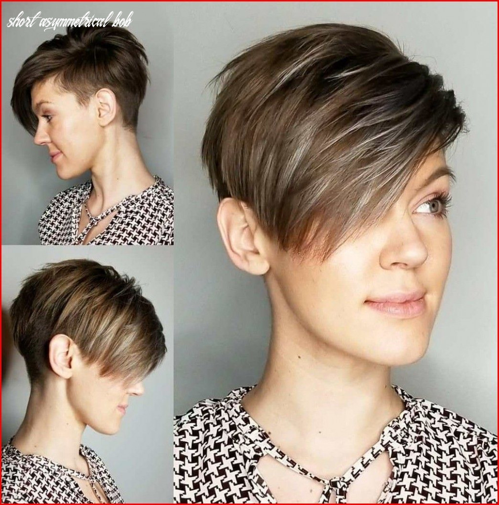 Cropped short asymmetrical bob hairstyle | coupe de cheveux, coupe