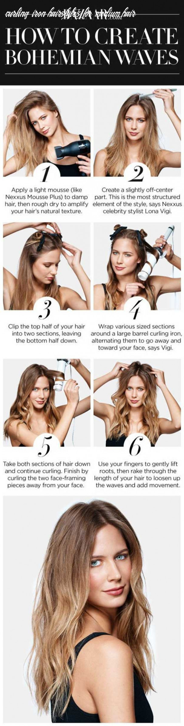 Curling iron hairstyles for long hair fresh how to nail the medium