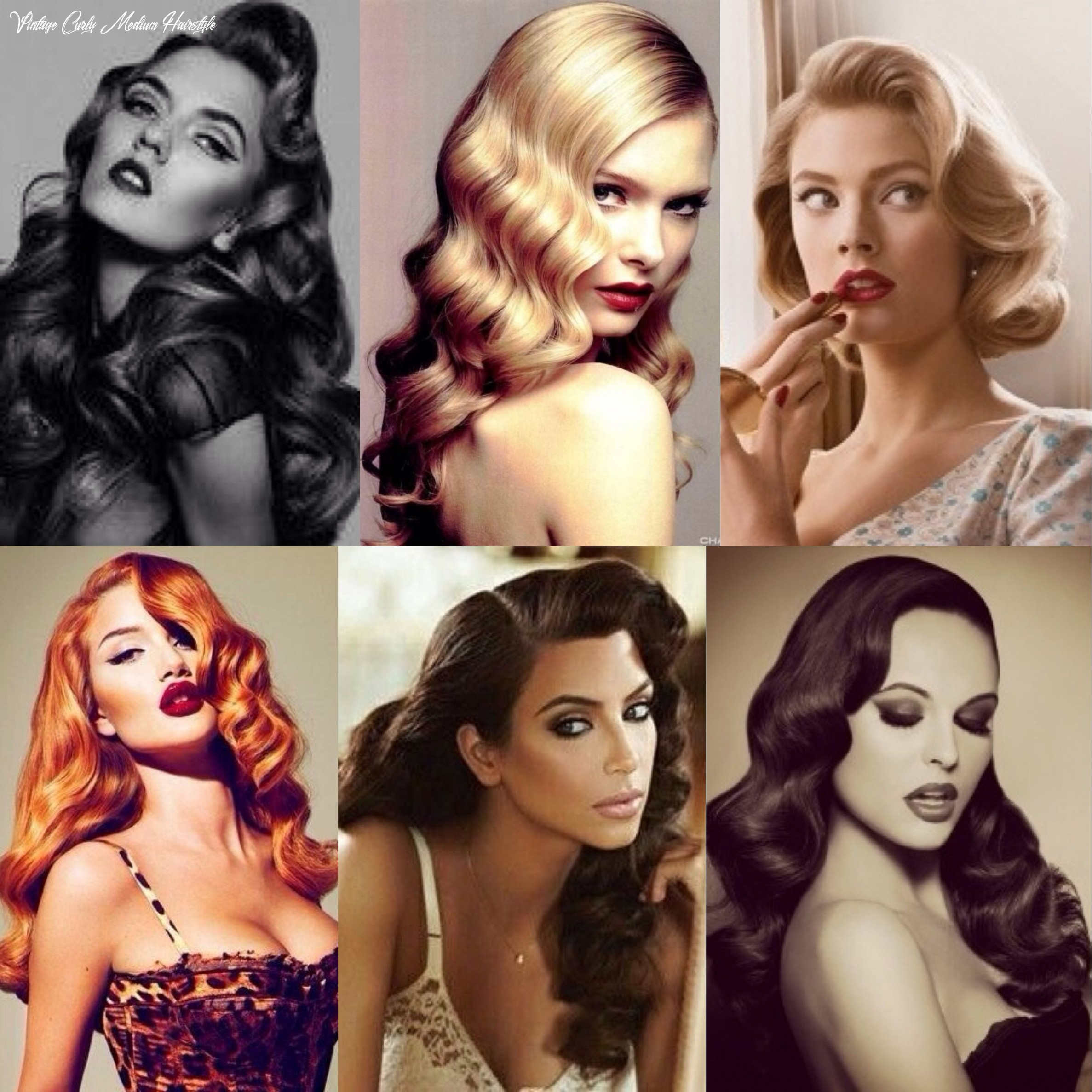 Curls and waves that vintage feel is just wow | retro waves