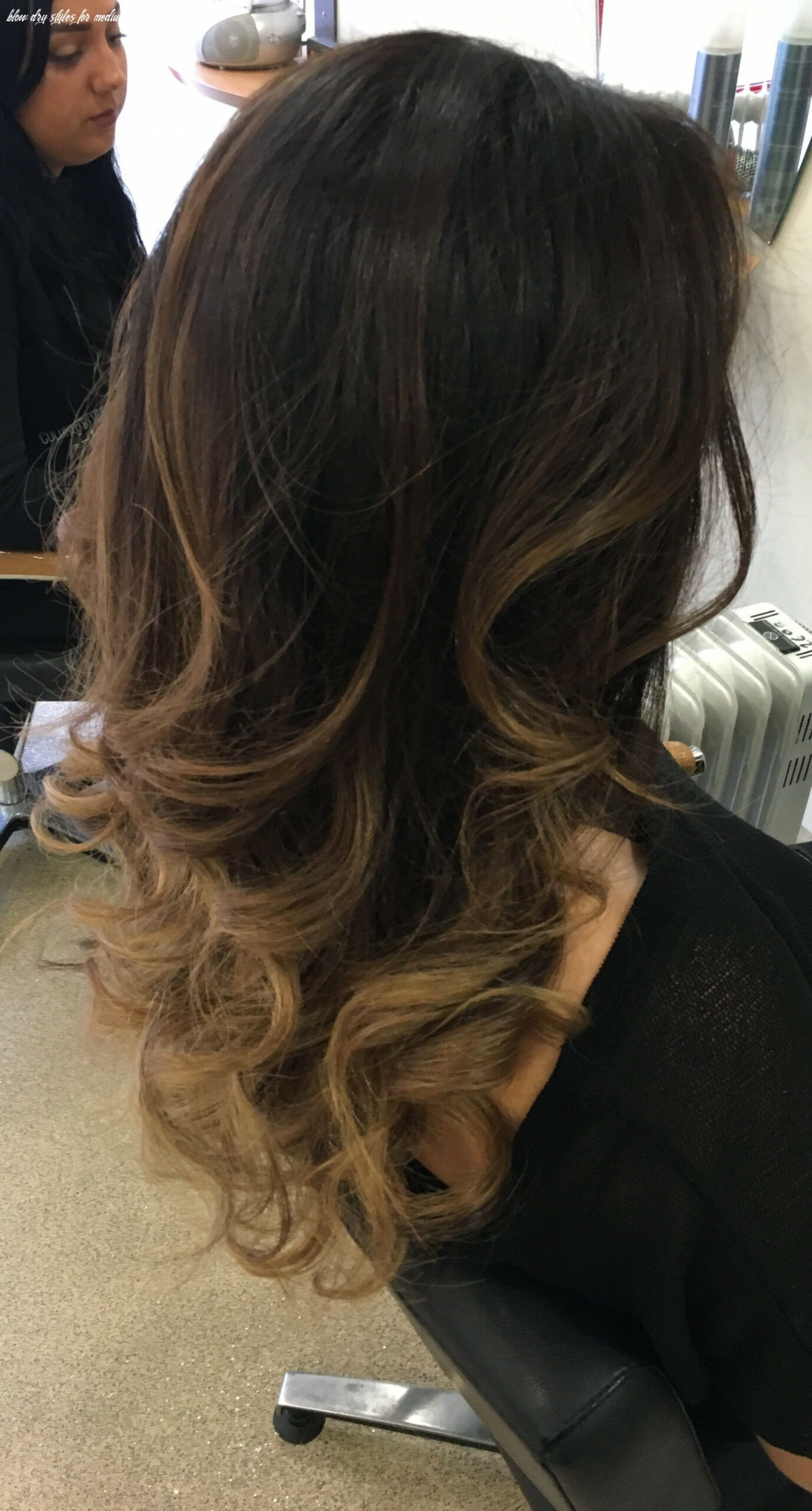 Curly blowdry | curly blowdry, blow dry hair, curly blowdry long hair blow dry styles for medium hair