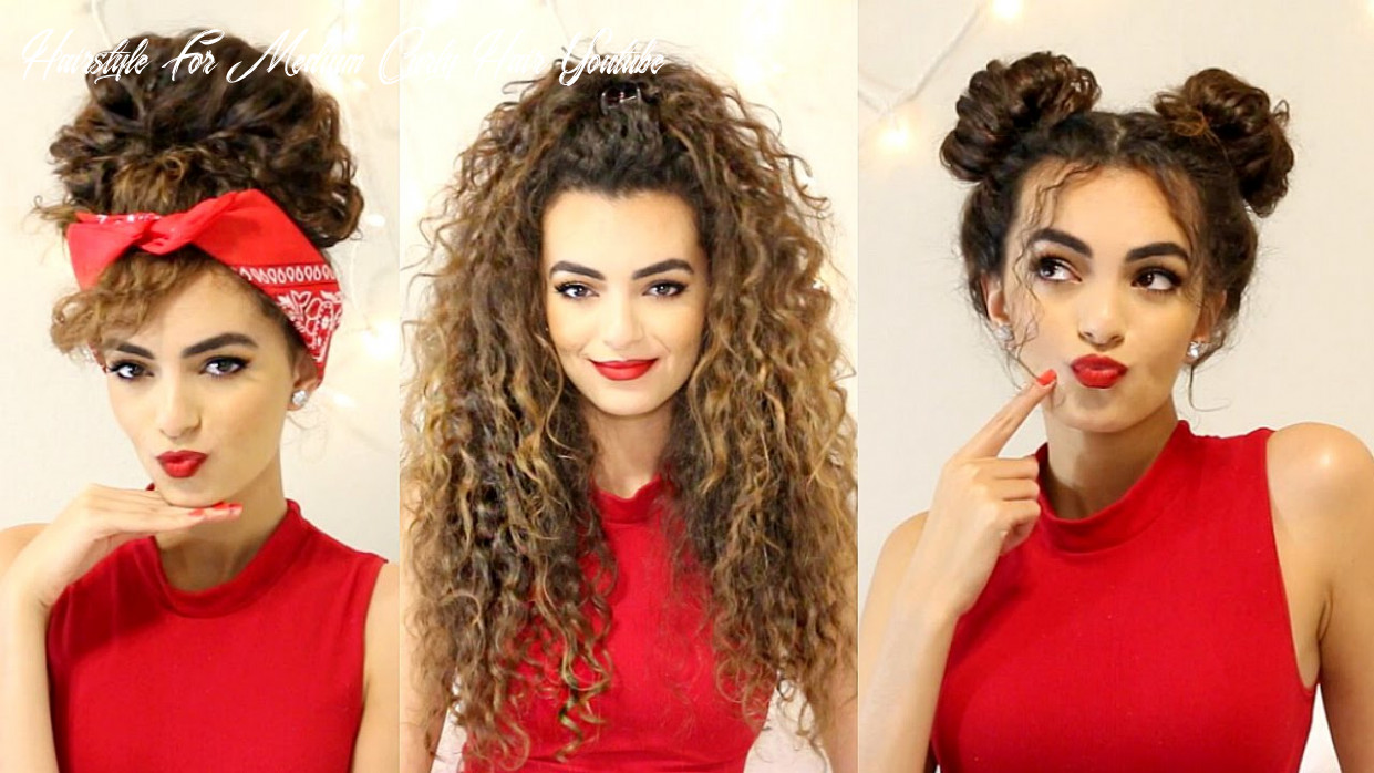 Curly hairstyles for a semi bad hair day!   itsrimi hairstyle for medium curly hair youtube