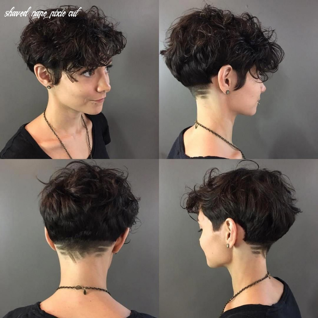 Curly pixie with shaved nape #curlyhaircut (with images) | short