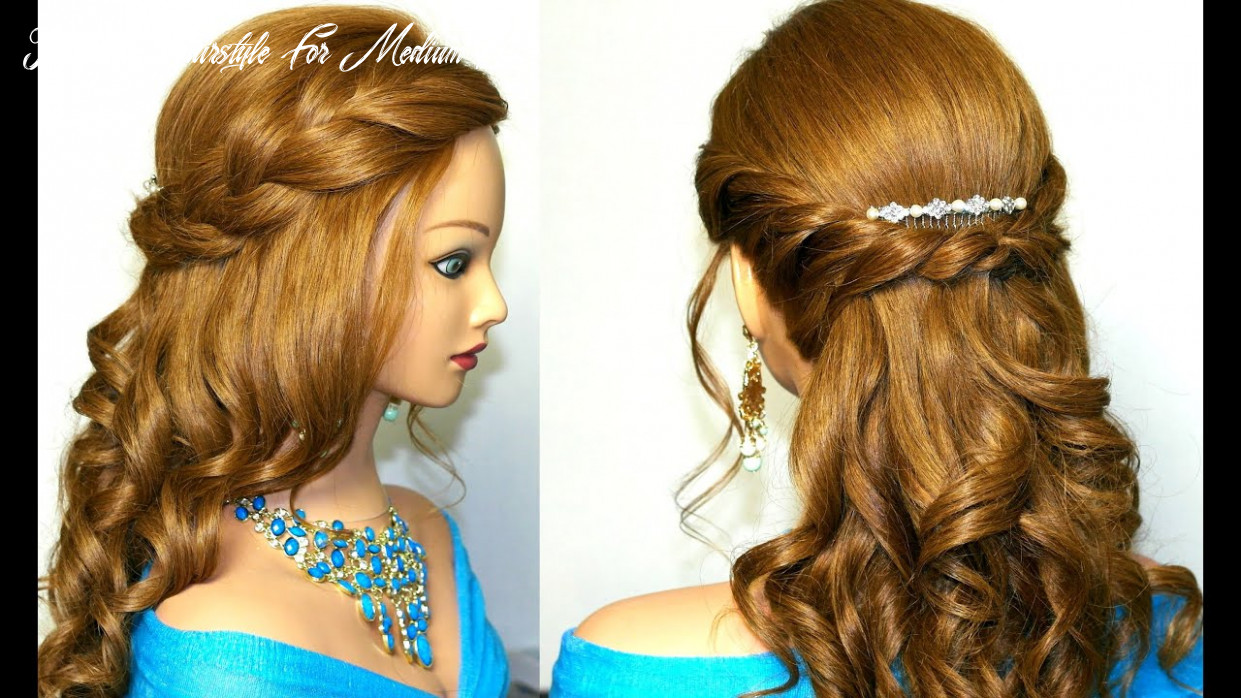Curly prom hairstyle for medium long hair