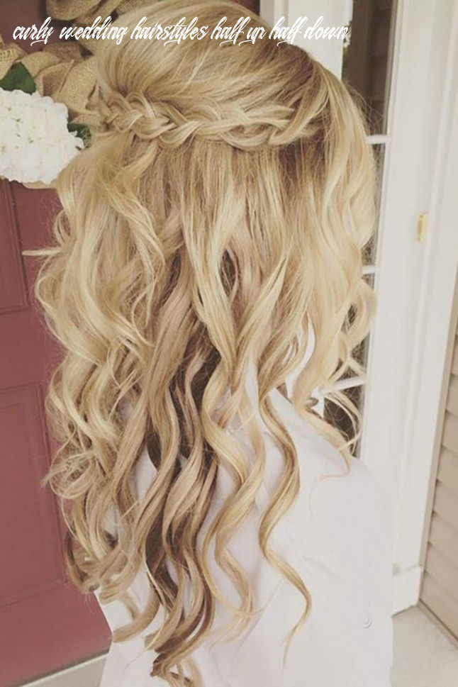 Curly wedding hairstyles from playful to chic | kapsel bruiloft