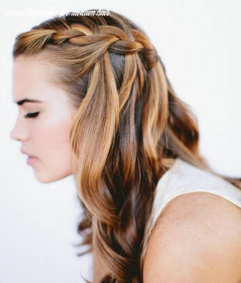 Cute and casual french braid to spruce up your hair for school or
