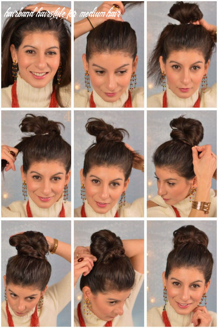 Cute and easy bun hairstyle for spring for busy women fauxhawk