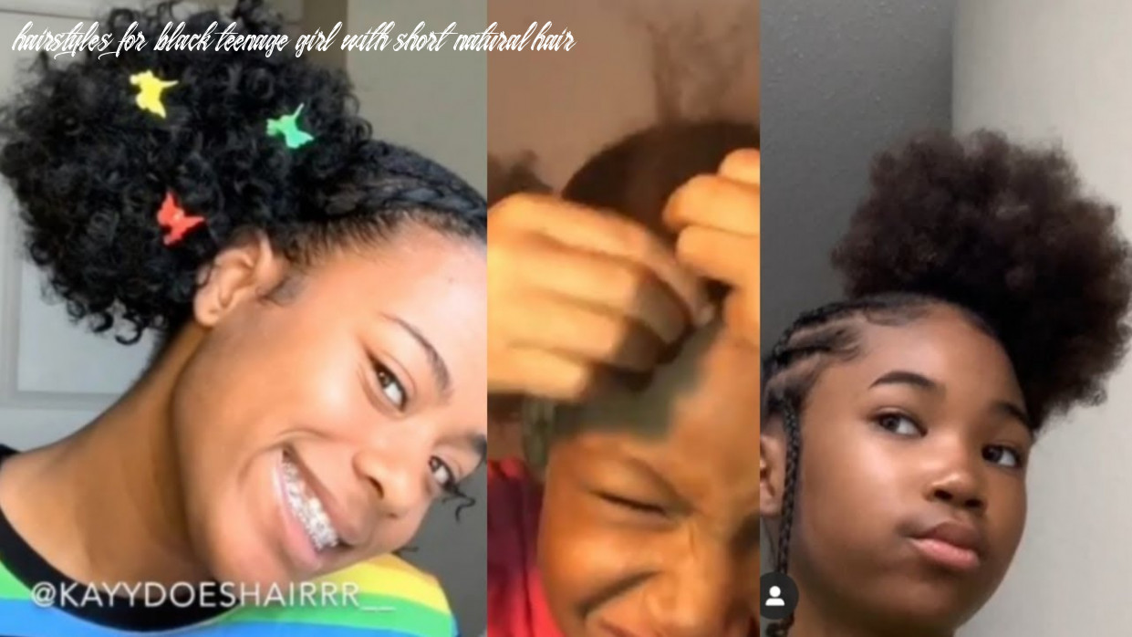 Cute black girl hair styles hairstyles for black teenage girl with short natural hair