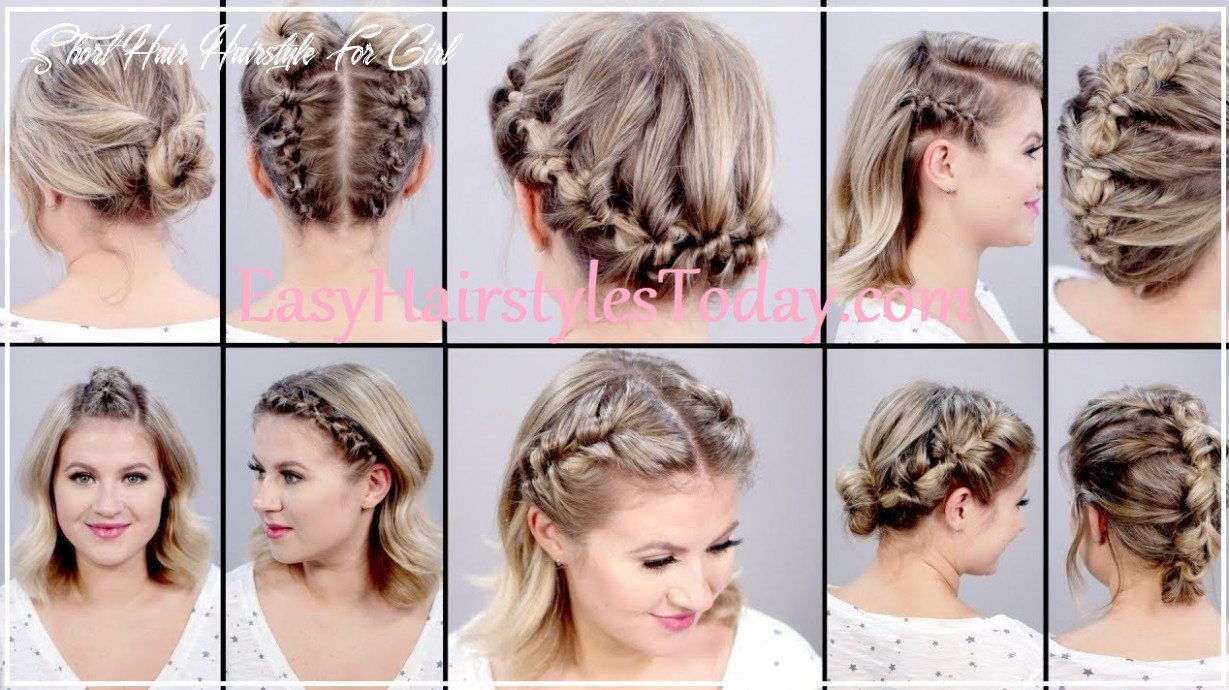 Cute Easy Hairstyles for Short Hair Girls 8 : Easy Hairstyles + ...