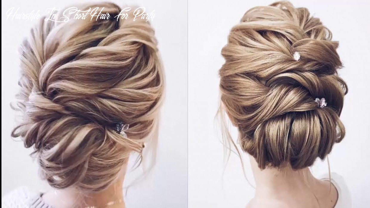 Cute hairstyles for short hair for a party لم يسبق له مثيل الصور