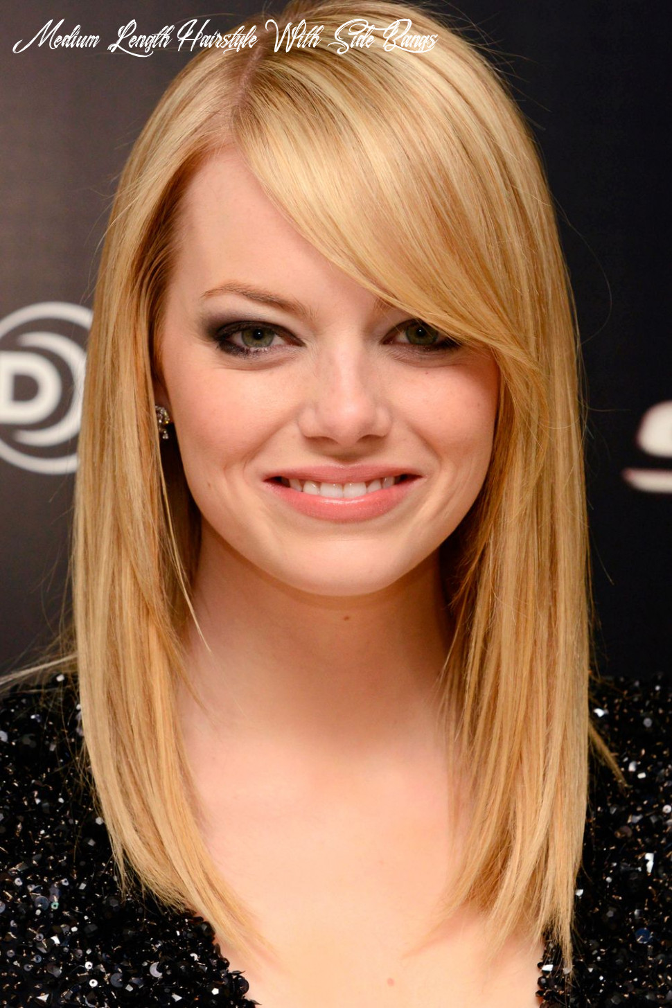 Cute medium length hairstyles with side bangs for thin blonde and