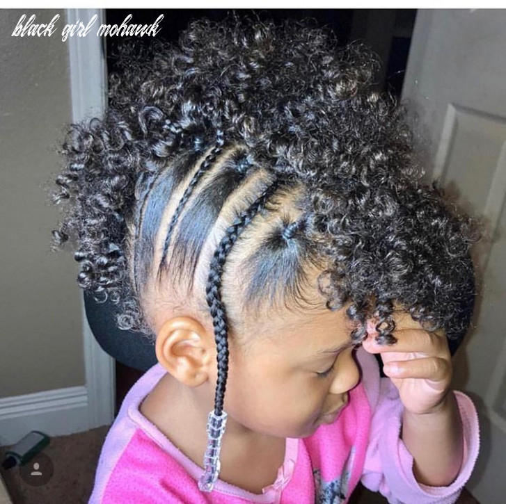 Cute mohawk with falani braid | girls natural hairstyles, baby