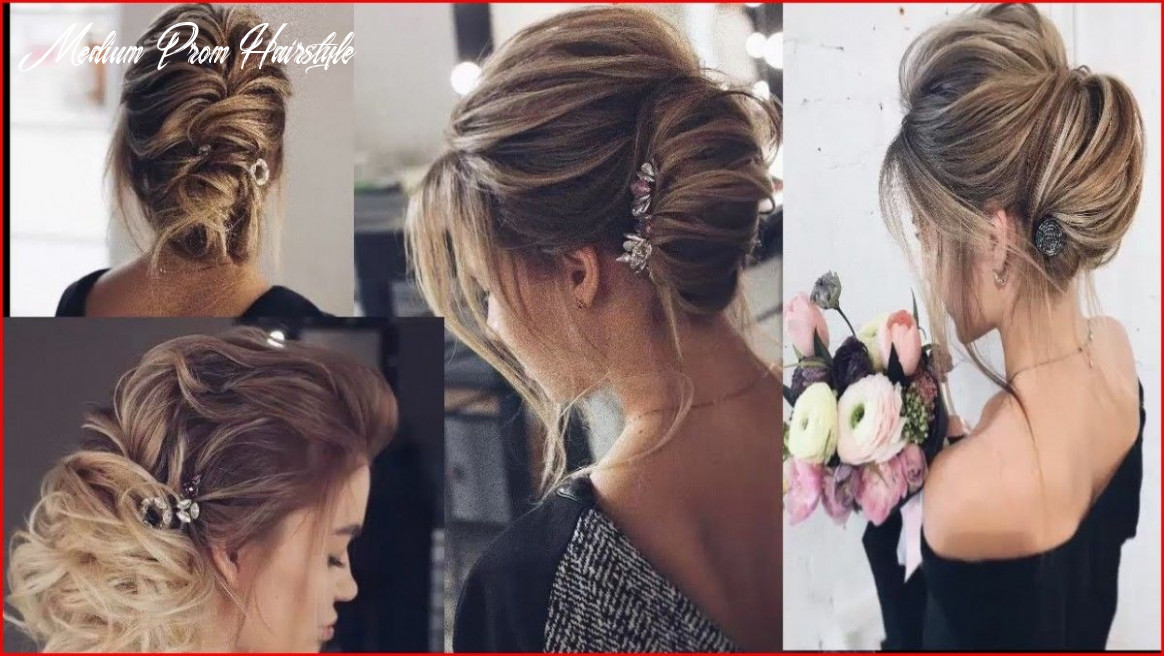 Cute prom hairstyle for shoulder length hair (with images