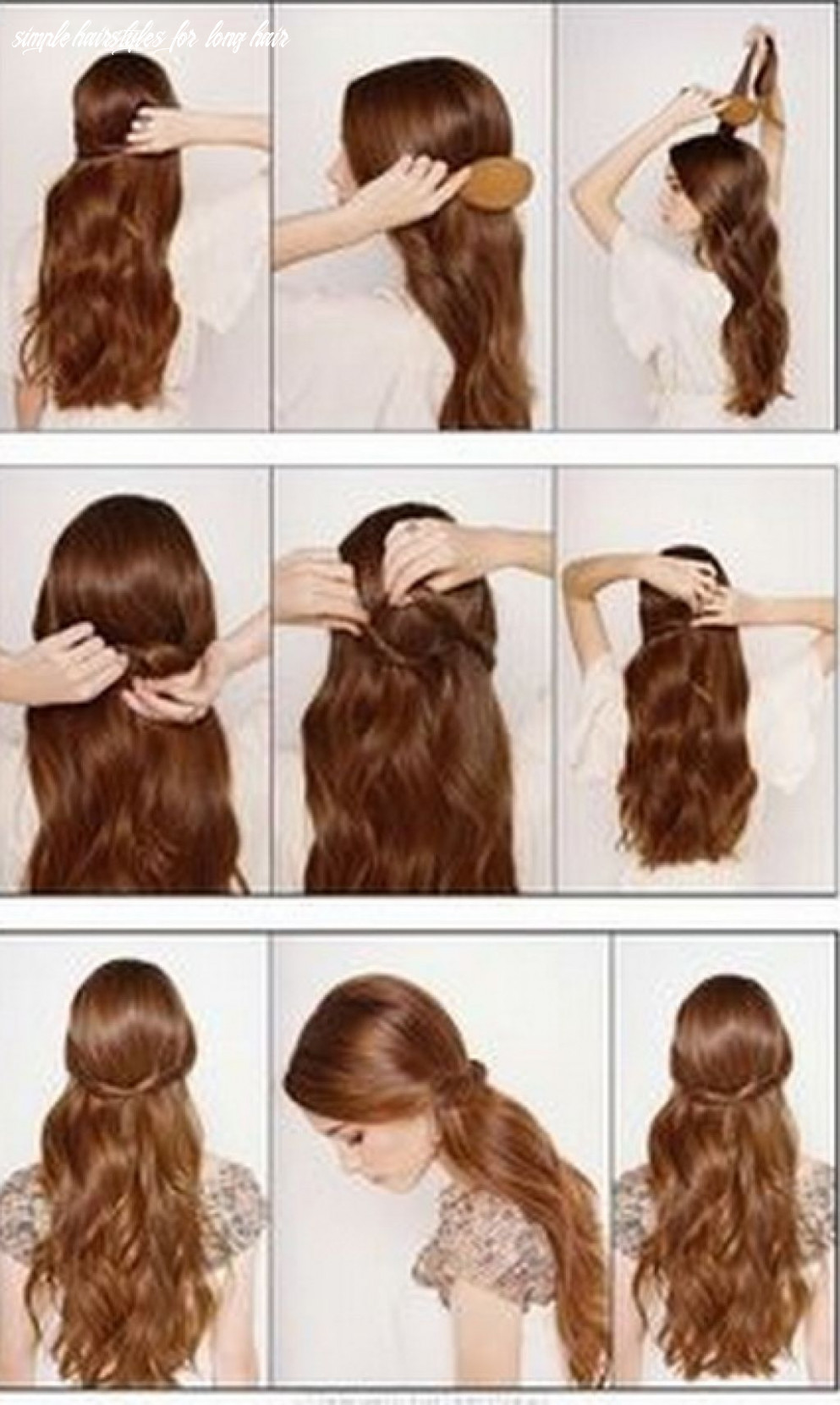 Cute simple hairstyles for long hair   easy hairstyles for long
