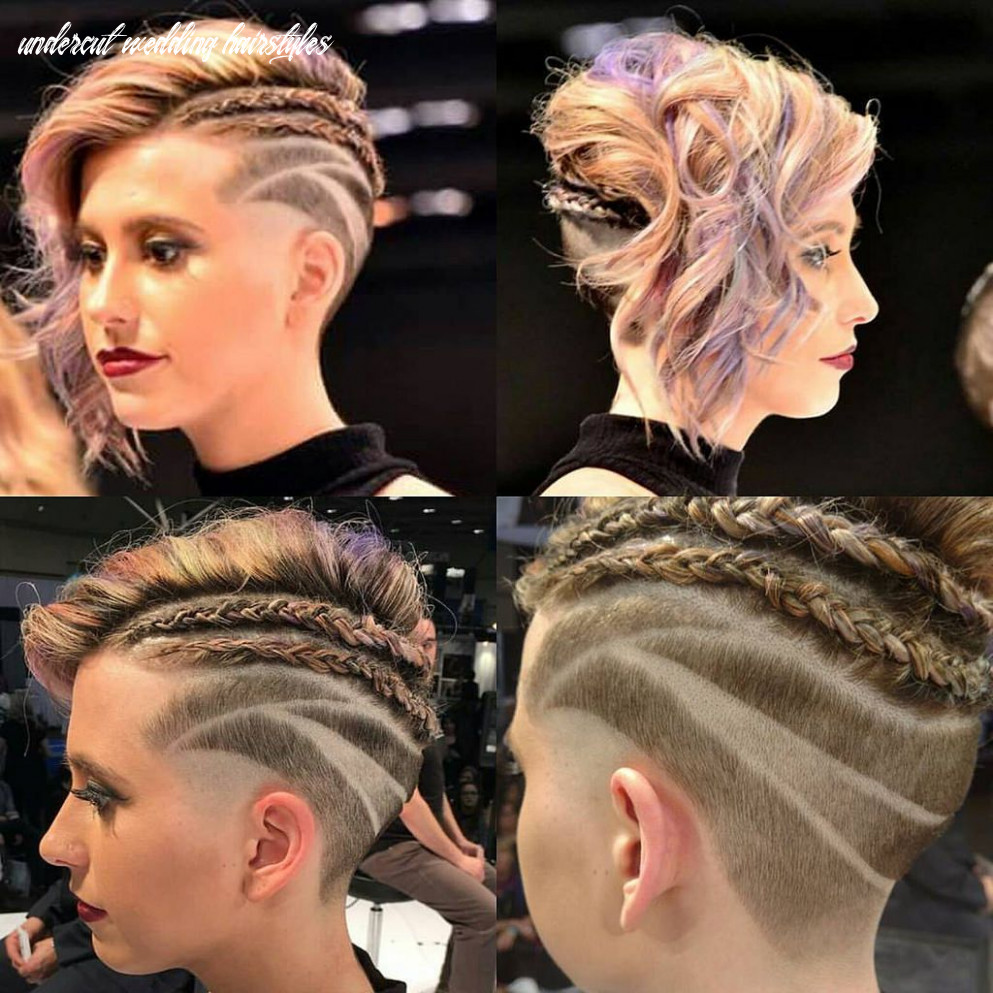 Cute undercut with braids and curly hair   beautiful hair color
